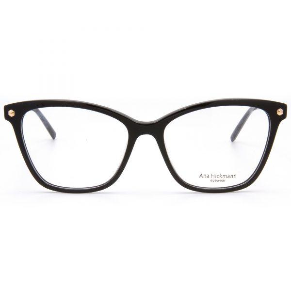 Ana Hickmann AH6360-A01 рамка за очила за четене, за далеч, за компютър със защита от синя светлина, очила за шофиране или слънчеви очила с дипотър