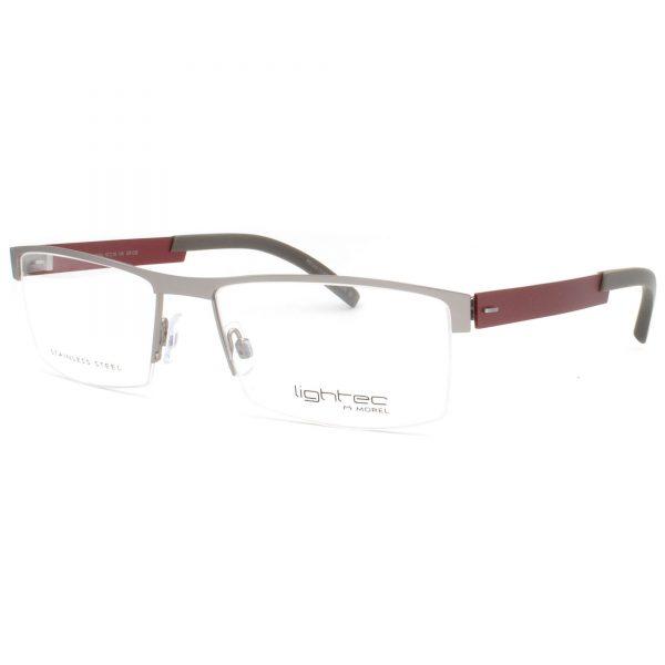 Рамка за очила Morel Lightec 7329L-GR032. Опции стъкла за антирефлексни очила, защитни очила за компютър с филтър за синя светлина, фотосоларни очила, очила за дневно и нощно шофиране