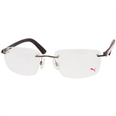 Рамка за очила Puma-PU00290. Опции стъкла за антирефлексни очила, защитни очила за компютър с филтър за синя светлина, фотосоларни очила, очила за дневно и нощно шофиране