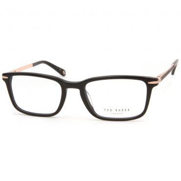 Рамка за очила TedBaker-Flynn-8161-001. Опции стъкла за антирефлексни очила, защитни очила за компютър с филтър за синя светлина, фотосоларни очила, очила за дневно и нощно шофиране